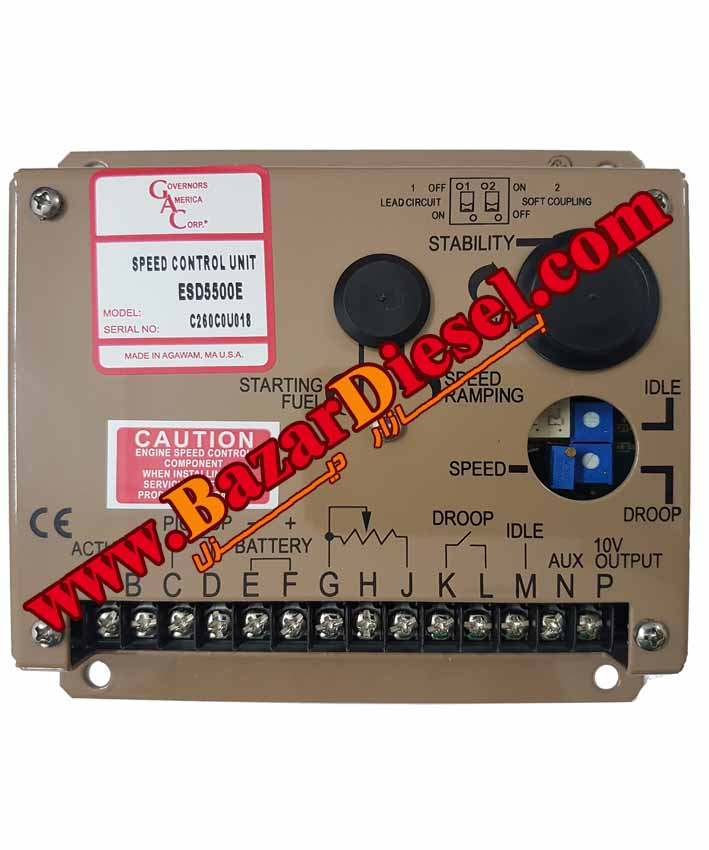 تنظیم سرعت گاورنر ESD5500 GAC